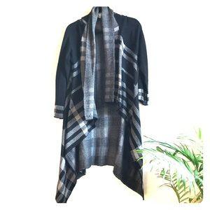 Venus large black plaid sweater